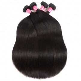 Julia 4Pcs/pack 100% Virgin Straight Brazilian Hair Bundles Human Hair Weave On Sale