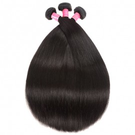 Julia 100% Malaysian Human Straight Virgin Hair Bundles 3pcs Thick  Straight Malaysian Weave