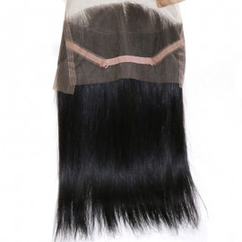 Julia 3 Bundles Of Straight Human Hair Weaves With 1 Piece 360 Straight Lace Frontal Pre Plucked