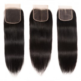 Julia 1 Piece Straight Hair Lace Closure Free Part Middle Part Three Part On Sale