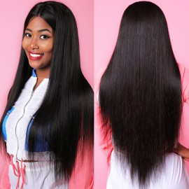 Julia Pre Plucked 360 Lace Frontal Straight Human Hair Wig 150% 180% Density Best 360 Lace Frontal Straight Wig With Baby Hair