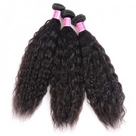 Julia 2 Pieces Super Wave Hair Bundles With Closure 100% Healthy Human Hair No Chemical Customizable Wig For Women