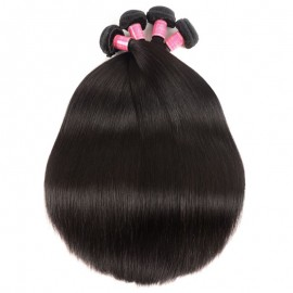 Julia Virgin 4 Bundles Straight Peruvian Hair Weave Deals Human Hair Extensions