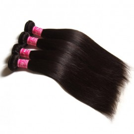 Julia 4pcs/pack Virgin Indian Straight Weave Pure Human Indian Human Hair Natural Color