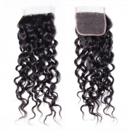 Julia Water Wave 4x4 Lace Closure 100% Virgin Human Hair Water Wave Closure