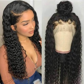 Julia 360 Lace Frontal Virgin Human Hair Wig 10A Unprocessed Curly Human Hair Wigs For Sale