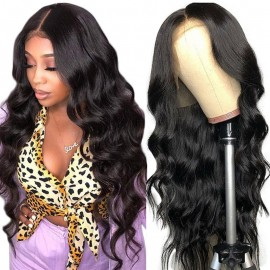 Julia 13x4 Lace Front Body Wave Hair Wigs 150% Density Brazilian Body Wave Human Hair Wig With Baby Hair
