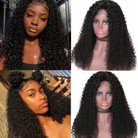 Julia Lace Front Human Hair Wig 150% Density Natural Looking Brazilian Curly Hair Wig For Women
