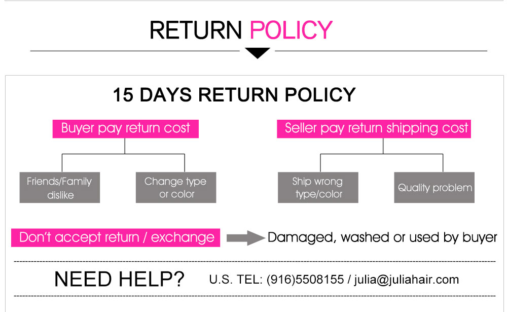 Julia Hair Return Policy