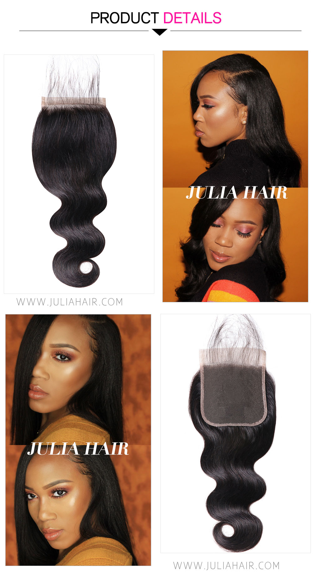 Brazilian hair 5x5 closure