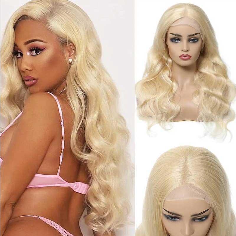 blond wigs body wave