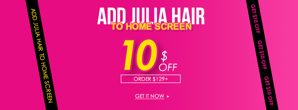 add julia hair to home screen