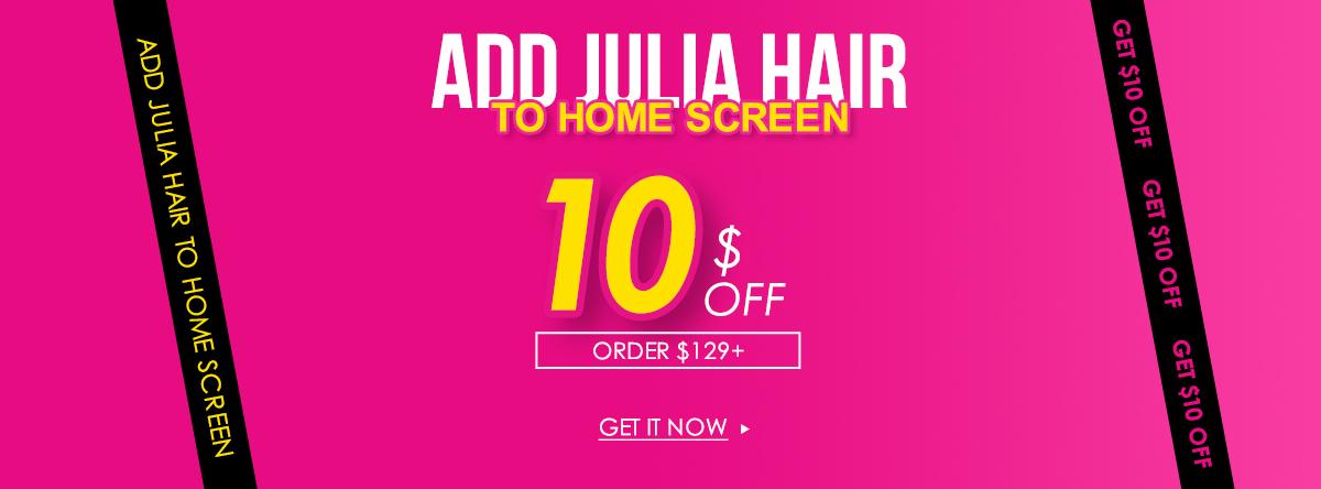 add julia hair to home screen
