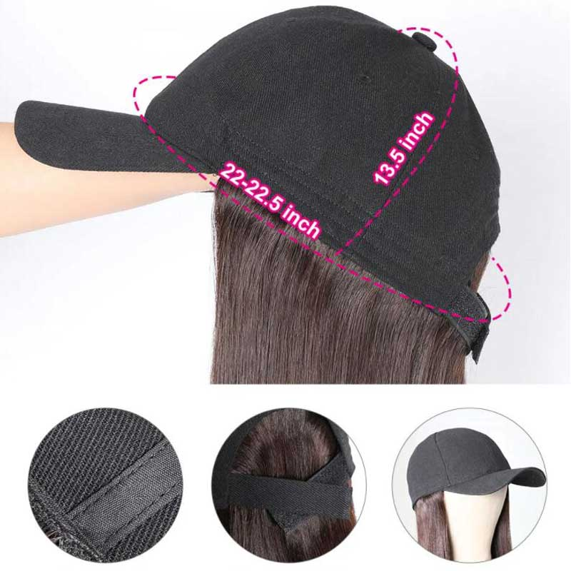baseball cap wig constructure