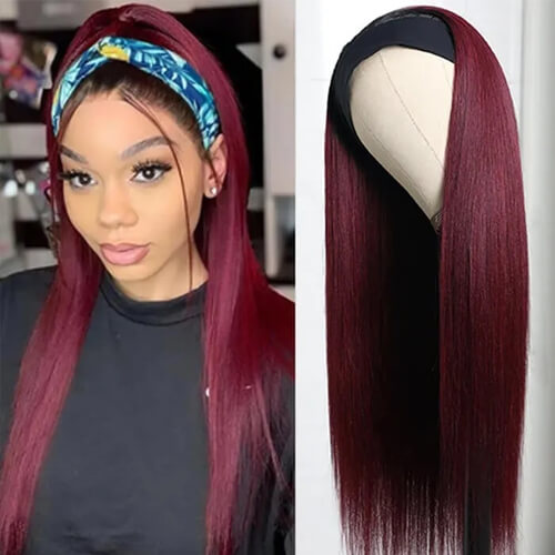 99J straight headband wig
