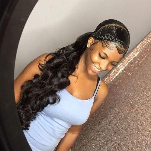 low side ponytails