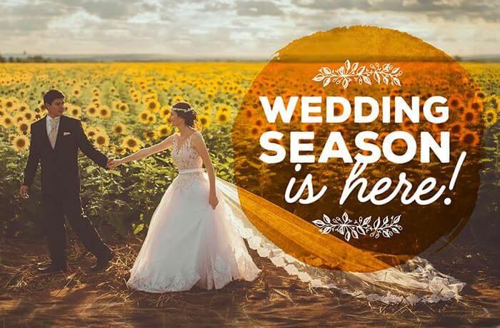 romantic wedding season