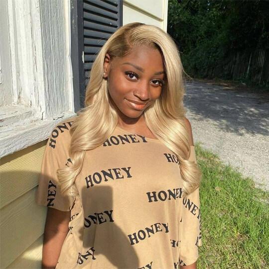 blonde body wave wig