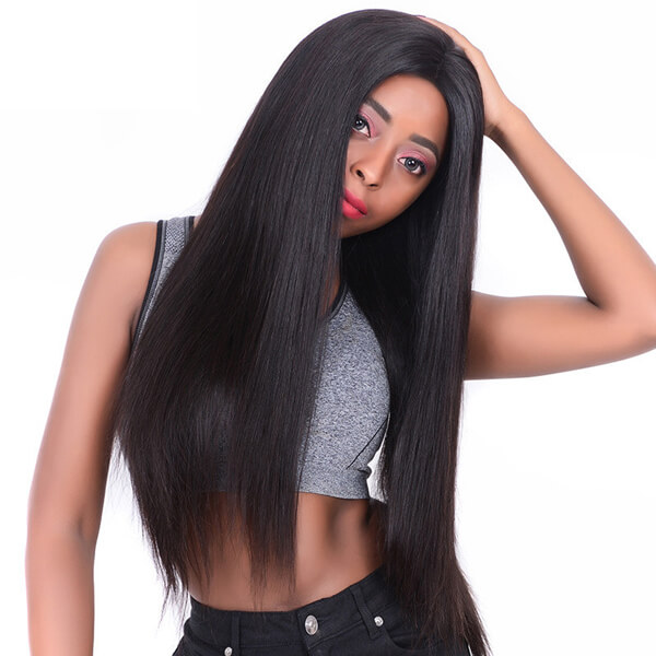 center off part straight wig