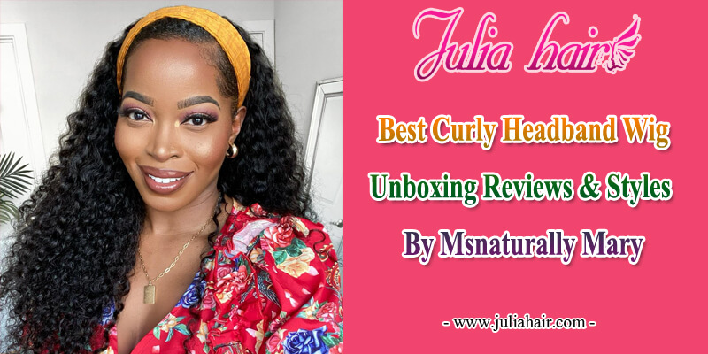 curly headband wig unboxing reviews