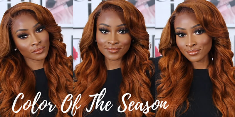 fall color ginger wig