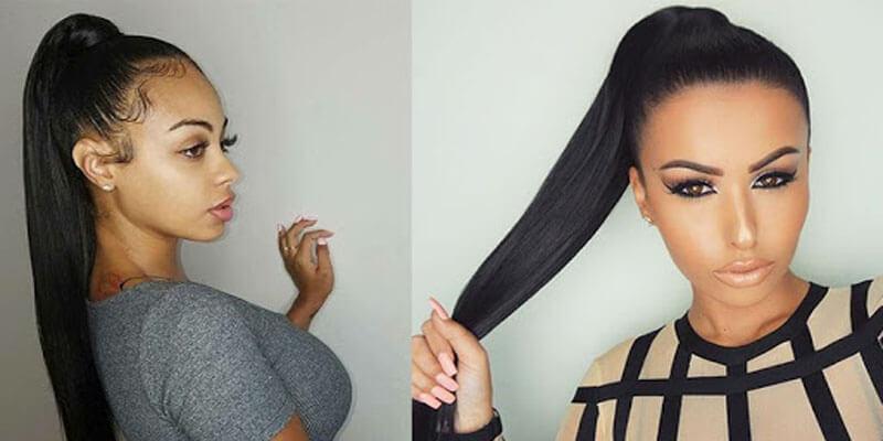 high ponytail for black women