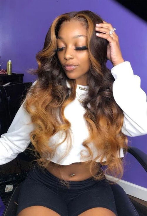ombre body wave hair