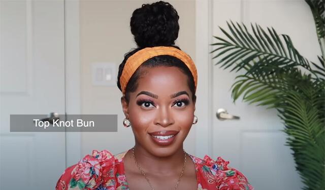 top knot bun
