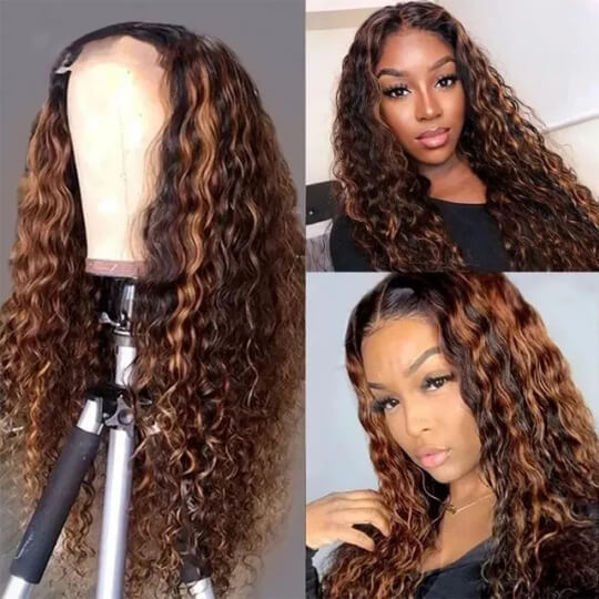 water wave highlight lace front wig