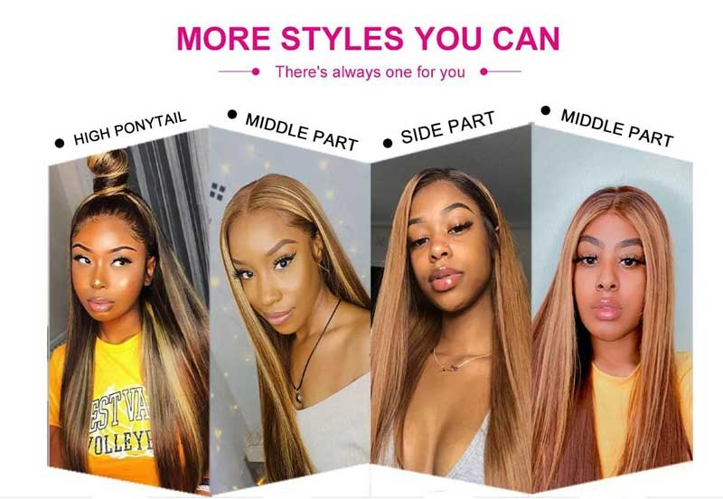 various highlight wigs hairstyles