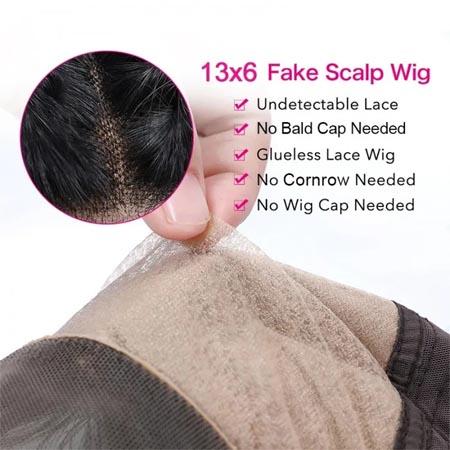 fake scalp hair wigs