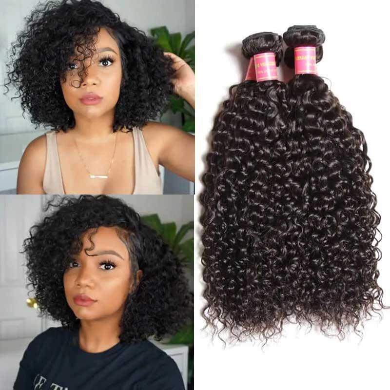 curly bob hair wig