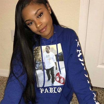 360 frontal with straight hair bundles