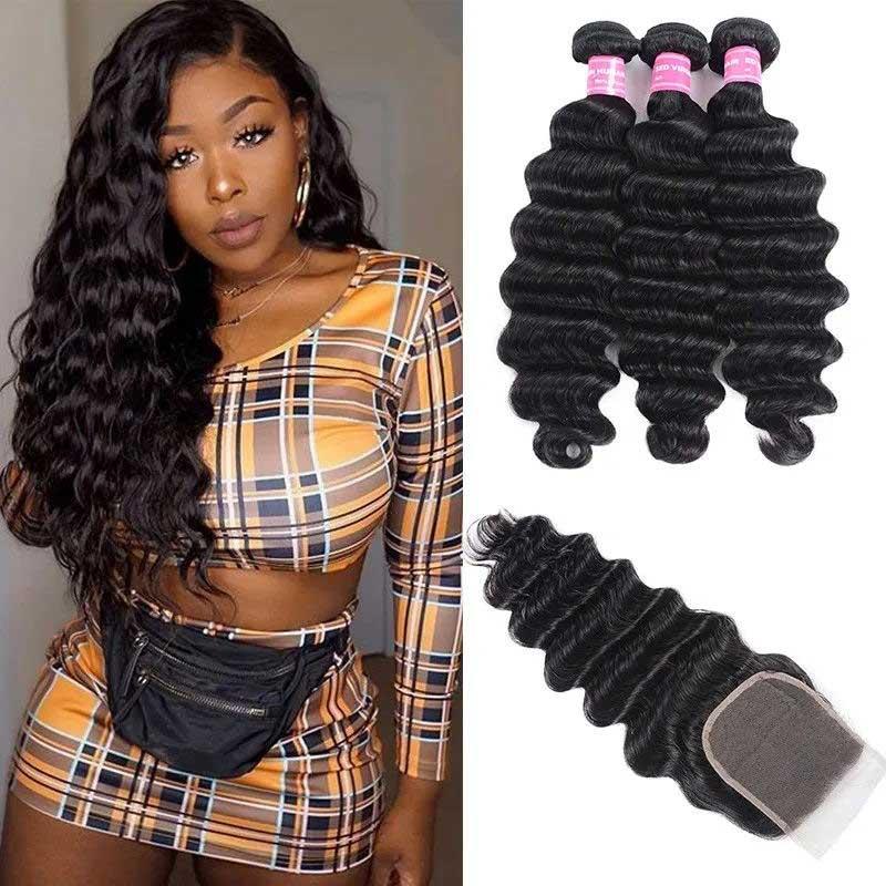 loose deep hair bundles with closure