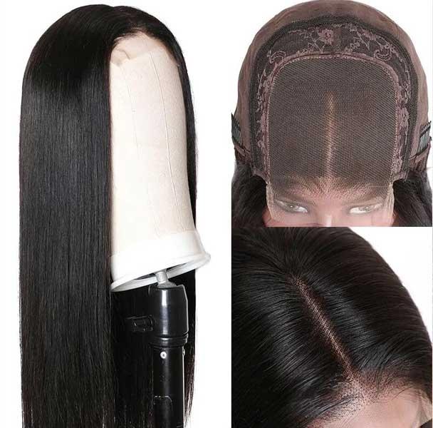 Straight wave hair wig 7A hair