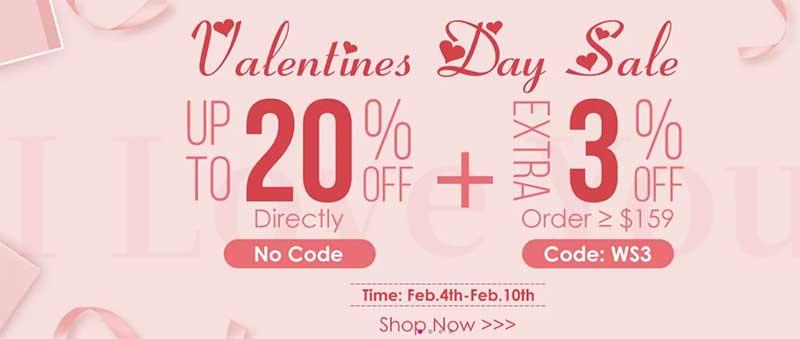 valentine hair sale
