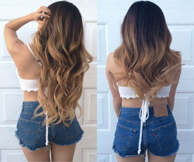 add highlights and colors with hair extensions