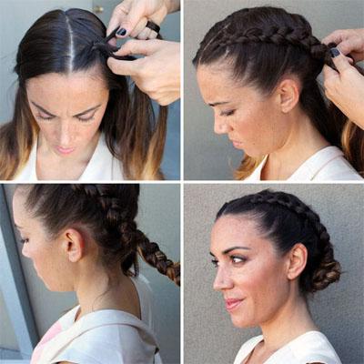 around the head braid