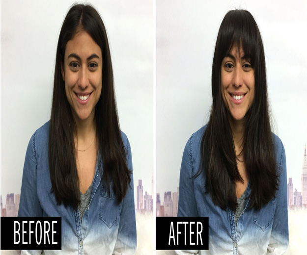 temporary bangs with hair extensions