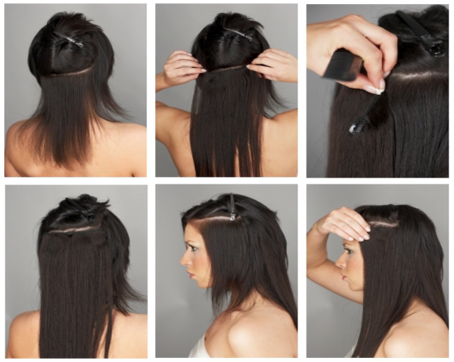 blend clip-in hair extensions steps