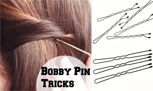 straighten hair with bobby pinning