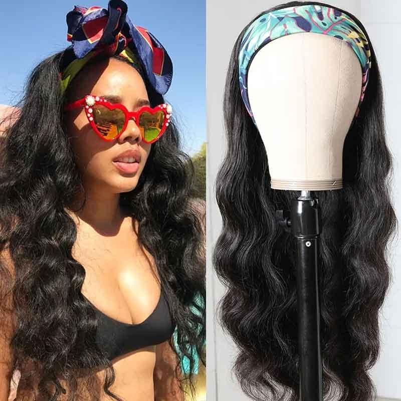 body wave headband wigs