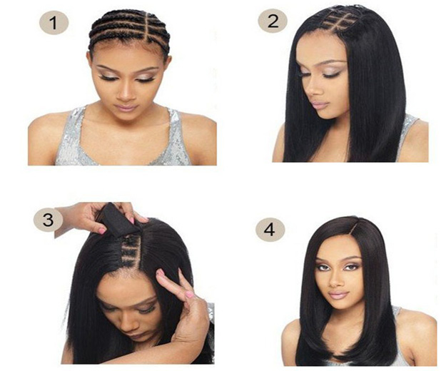 brazilian hair clip-in steps