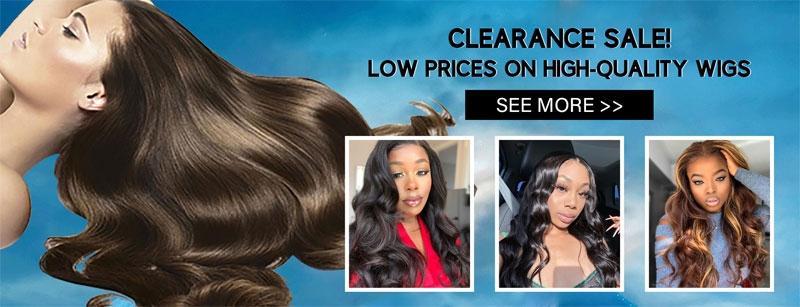 clearance sale on hair wig 1