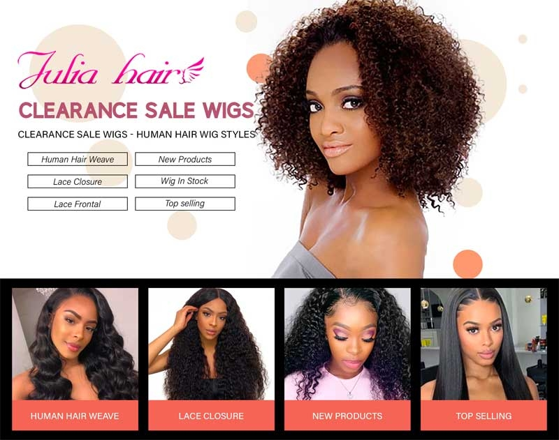 clearance sale on hair wig 2