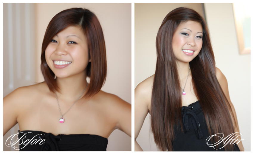 clip-in straight hair extensions with own hair naturally