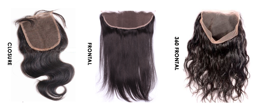 different hair closure