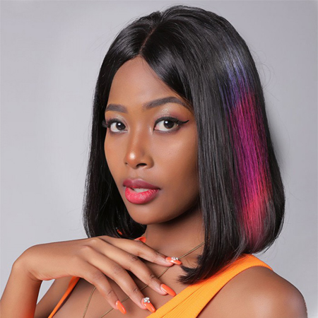 colored hair wig