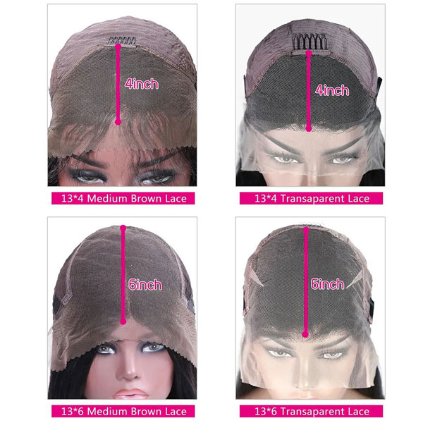 transparent lace wig VS light brown lace wig