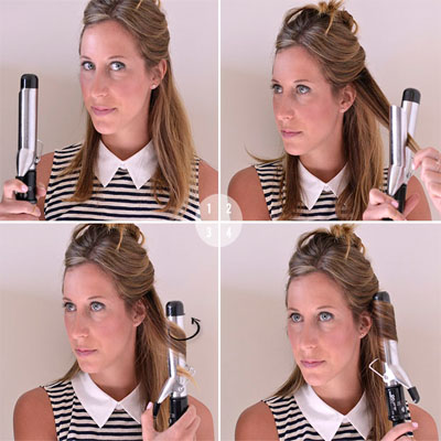 curl hair with curling iron